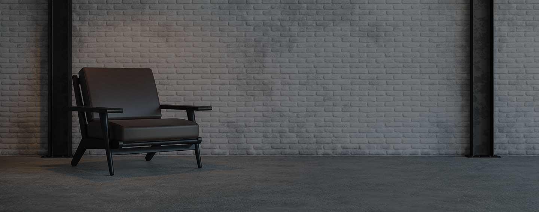 chair on dark background